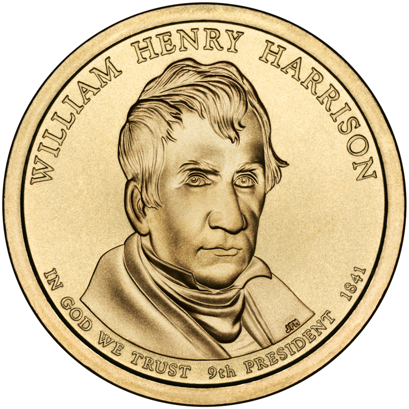 9th Presidential Dollar Coin: William Henry Harrison