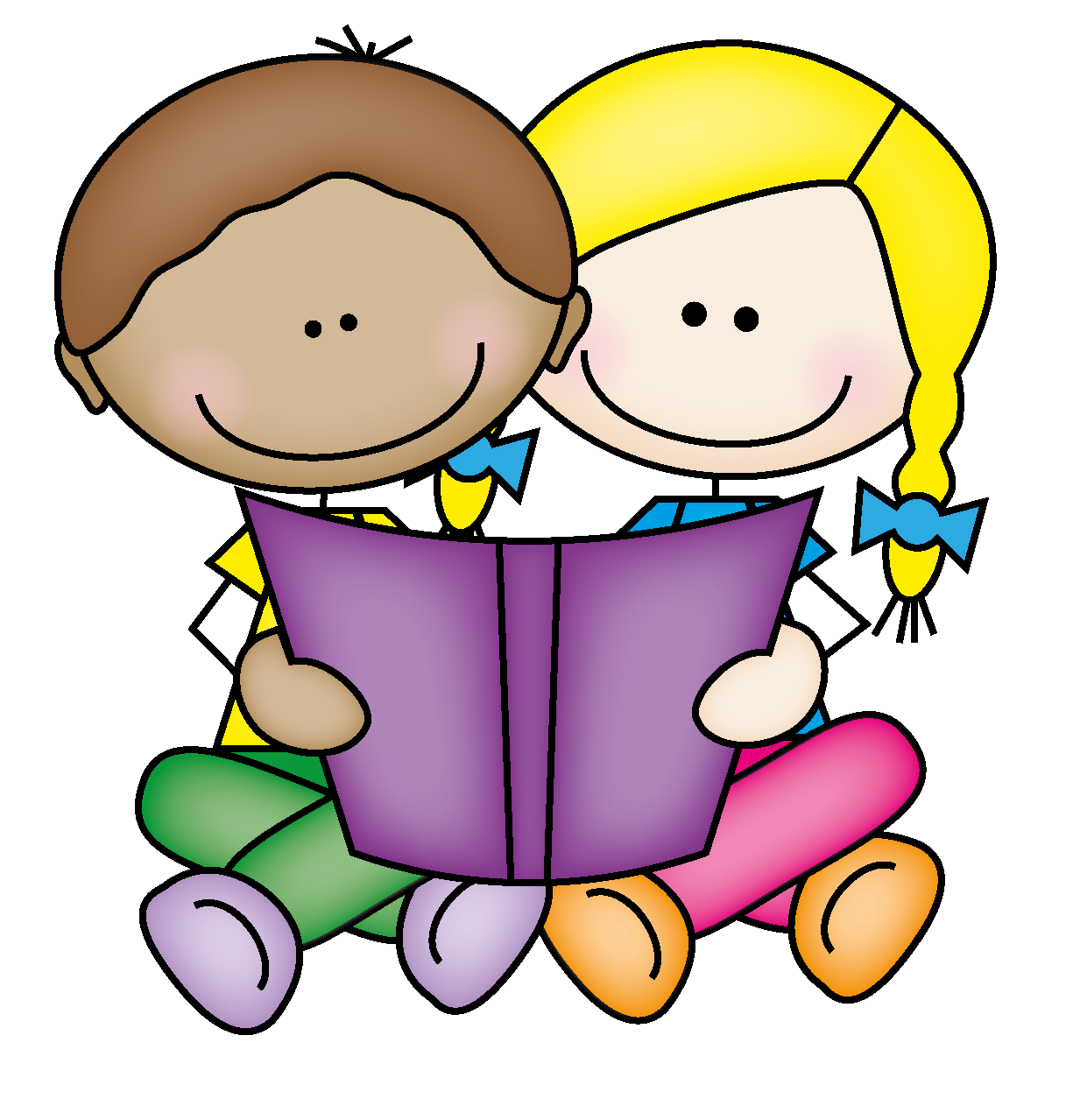 Kids Reading Books Clip Art - Cliparts.co