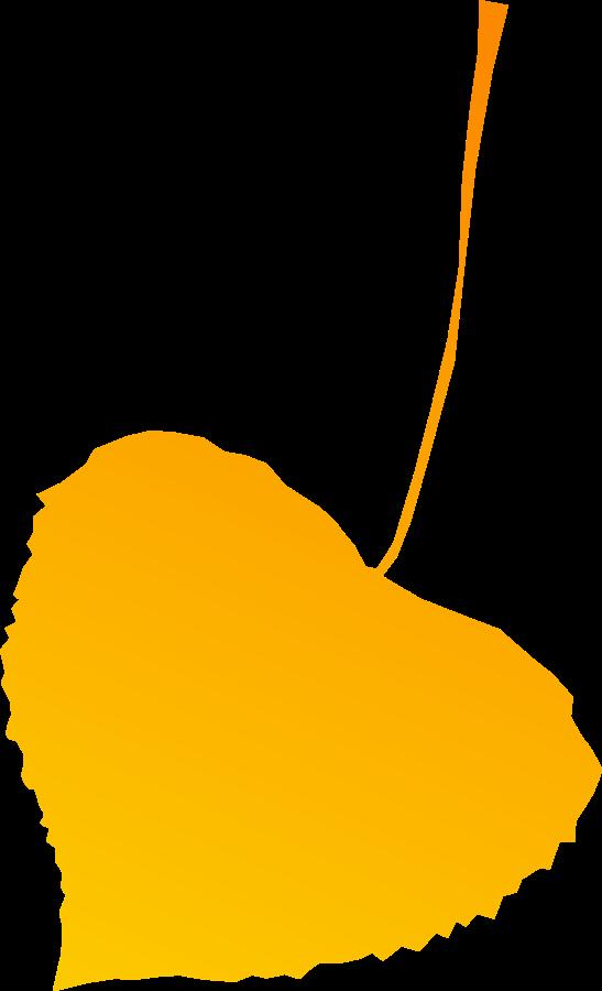 Autumn leaf yellow SVG Vector file, vector clip art svg file ...