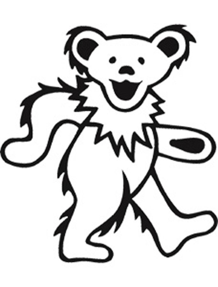 grateful dead bears coloring pages | Grateful Dead Clip Art - Cliparts.co