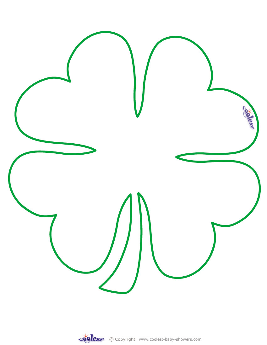 It is a photo of Punchy 4 Leaf Clover Printable