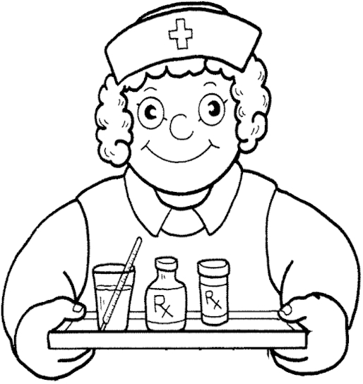 nurse coloring pages - photo#34