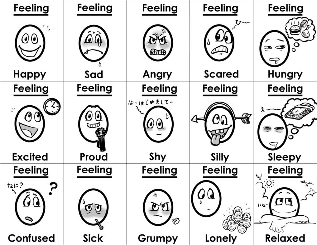 feelings chart coloring pages - photo#8