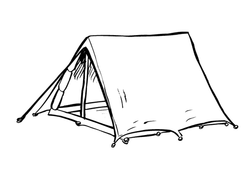 Tent Coloring Pages For Camping Lover Kids Cliparts Co