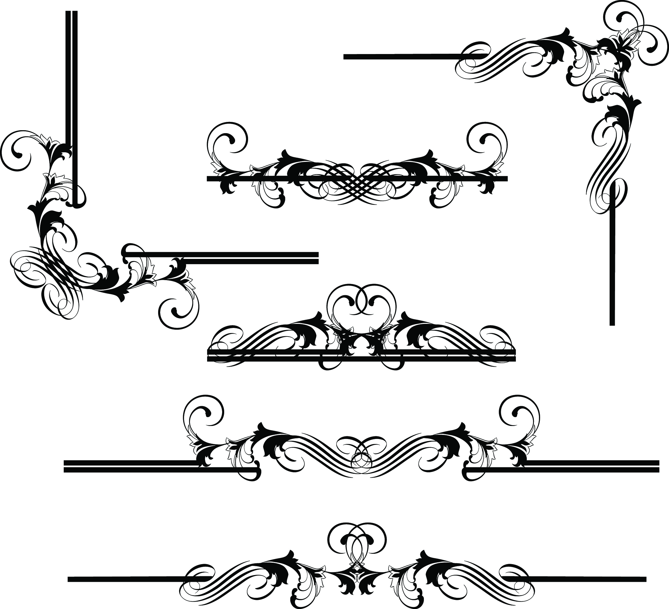Line Art Border : Border line design free download cliparts