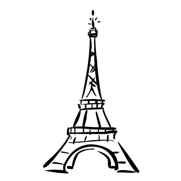 eiffel tower drawing - clipart best