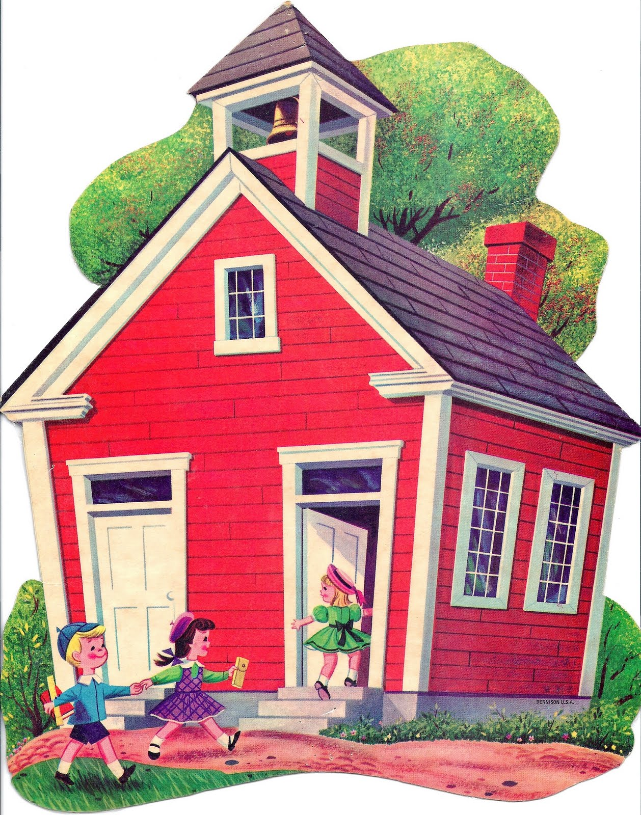 Old Red House Clipart