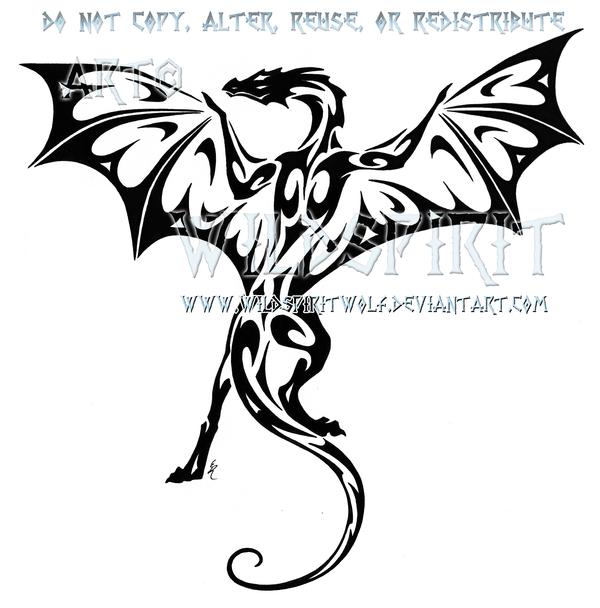 Tribal Fire Dragon Tattoos Designs  Clipartsco