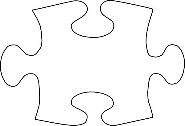 Puzzle Piece Template | Jigsaw White Puzzle Piece No Shadow clip ...