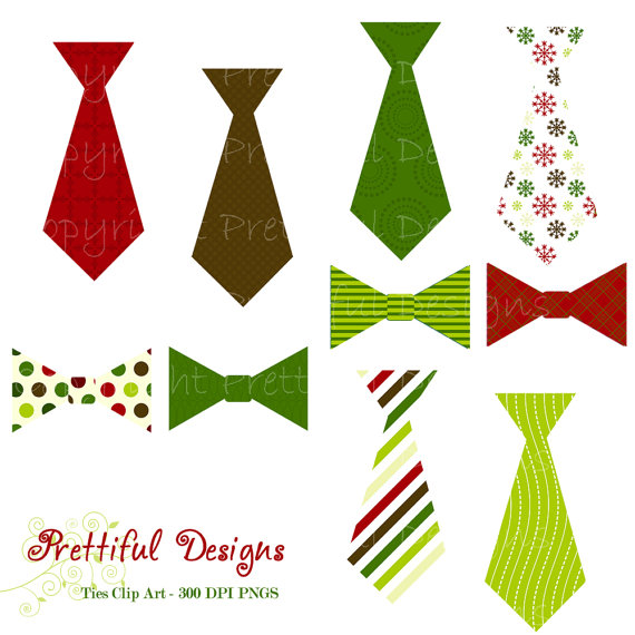 Christmas Ties and Bow Ties Clip Art Personal by PrettifulDesigns