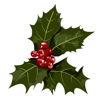 christmas holly vector art