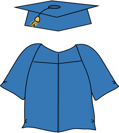Graduation Cap And Gown Clipart - Cliparts.co