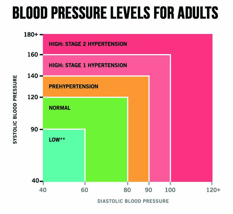 Blood Pressure Chart Clipart