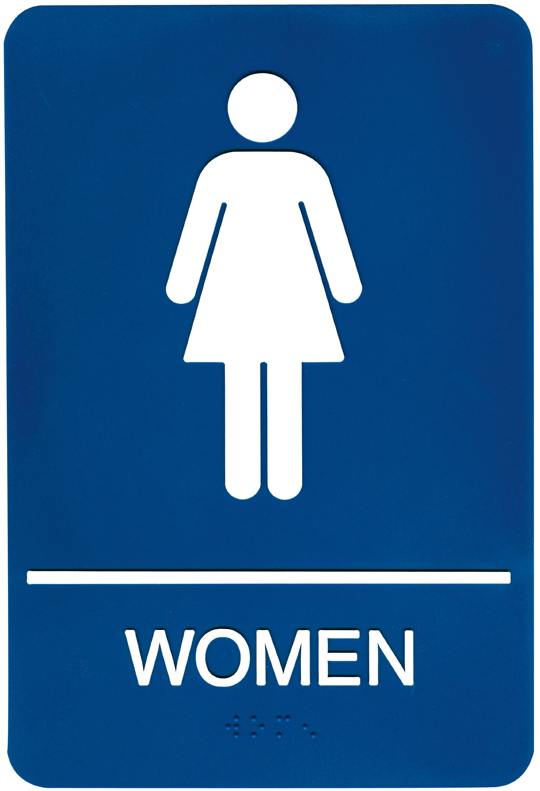 Bathroom sign with arrow - Headline Sign 5210 Ada Women S Restroom Sign With Tactile Graphic