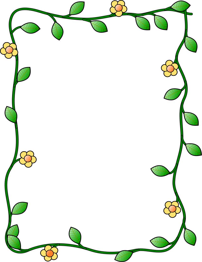 flower and vine frame vertical | Clipart Panda - Free Clipart Images Flower Vine Clipart
