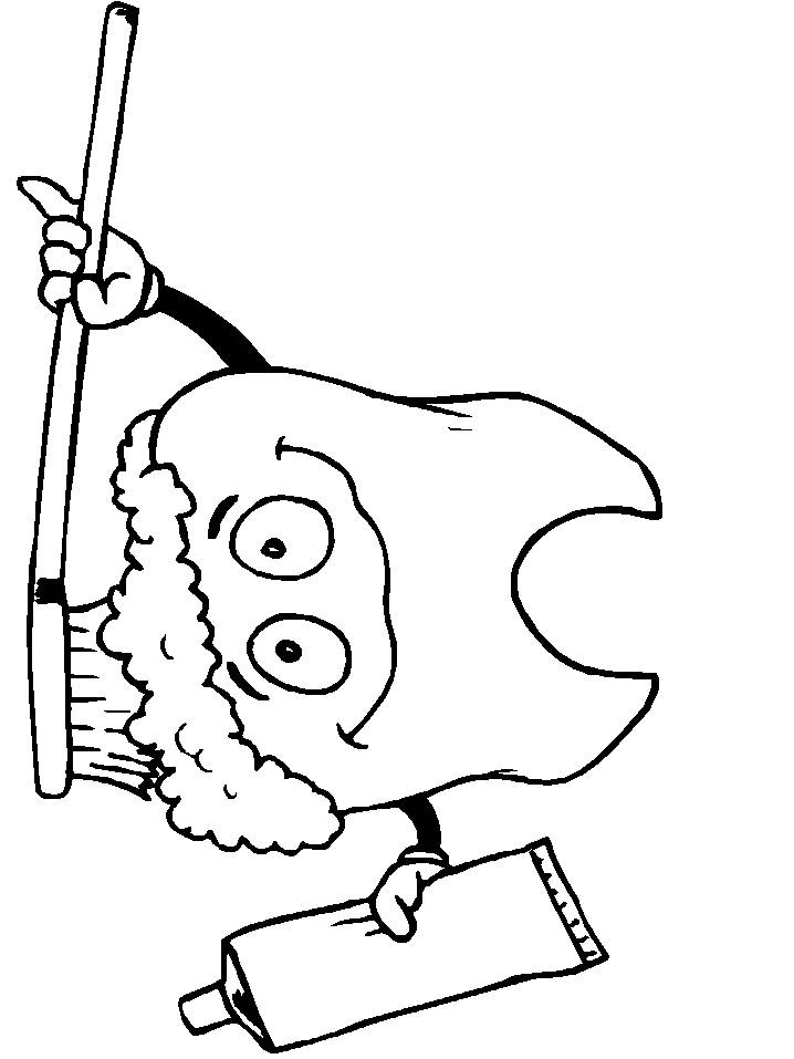 Coloring pages dental hygiene - picture 5