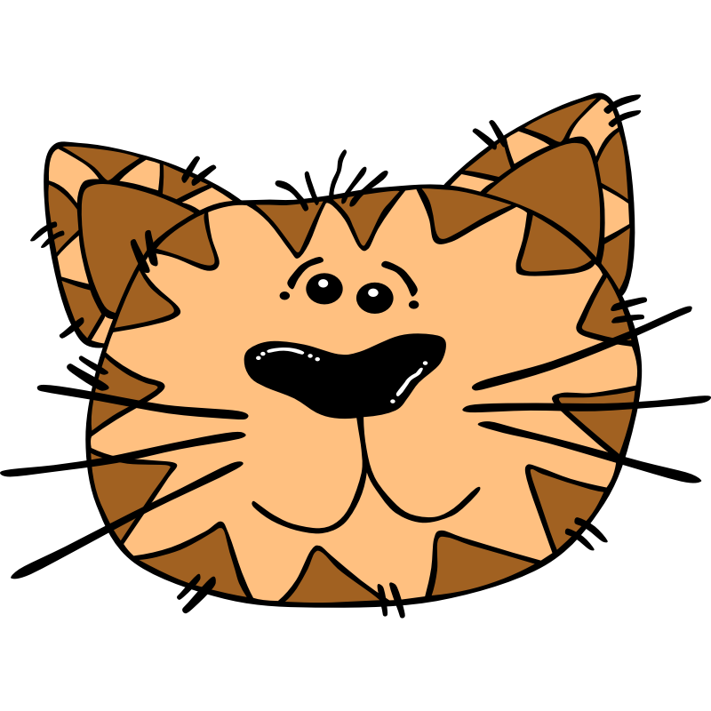 Clipart - Cartoon Cat Face