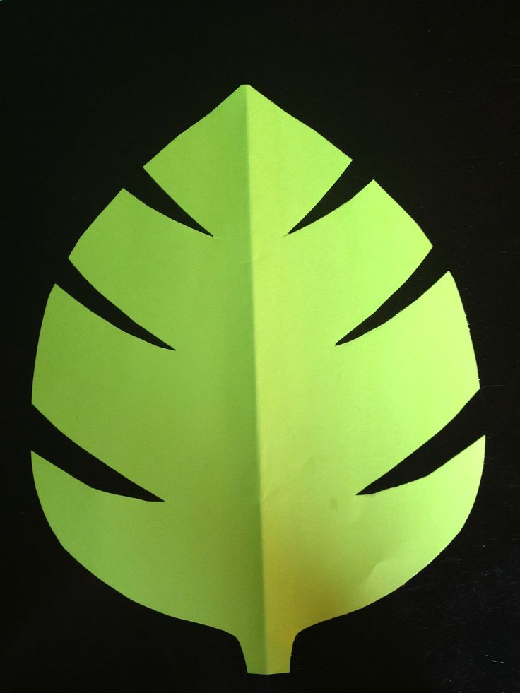 Green Jungle Leaf Template Comments Baby Shower Decor Pinterest