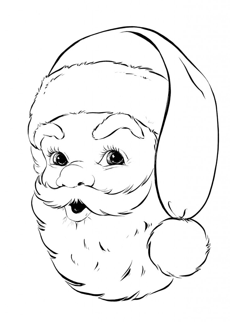 Vintage coloring pages 1950s ~ 1950s Christmas Colouring Pages - Cliparts.co