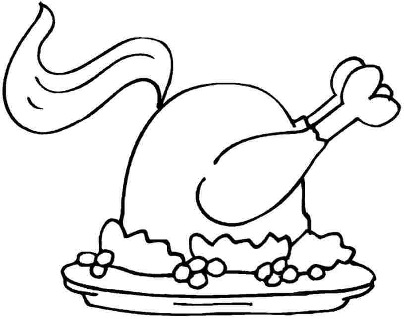 advanced coloring pages thanksgiving food - photo#16