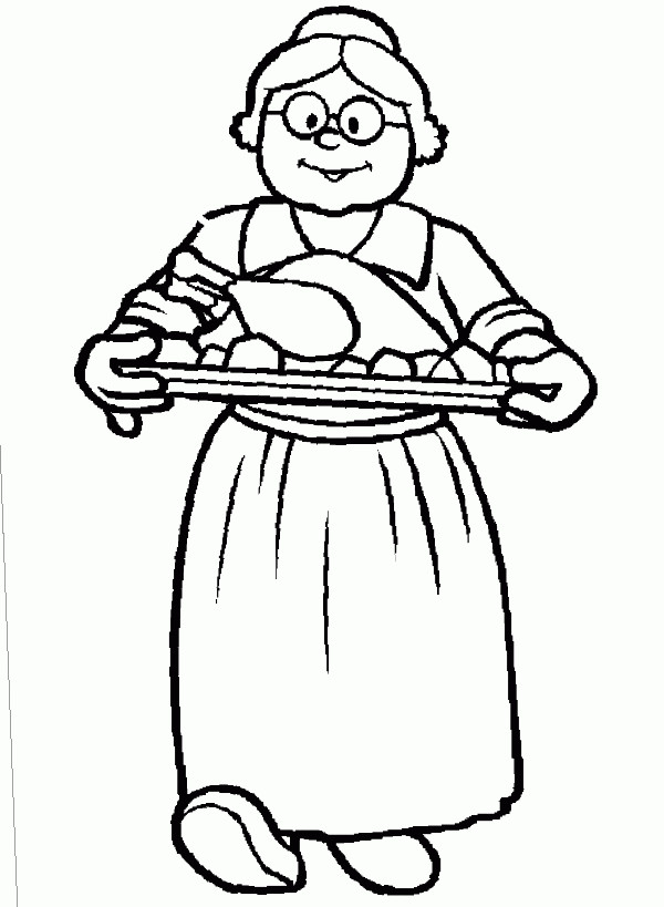 printable grandmother coloring pages - photo#12