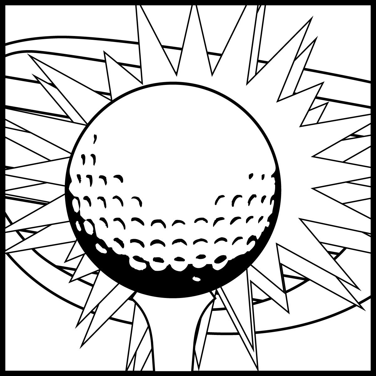 golf balls coloring pages - photo#18