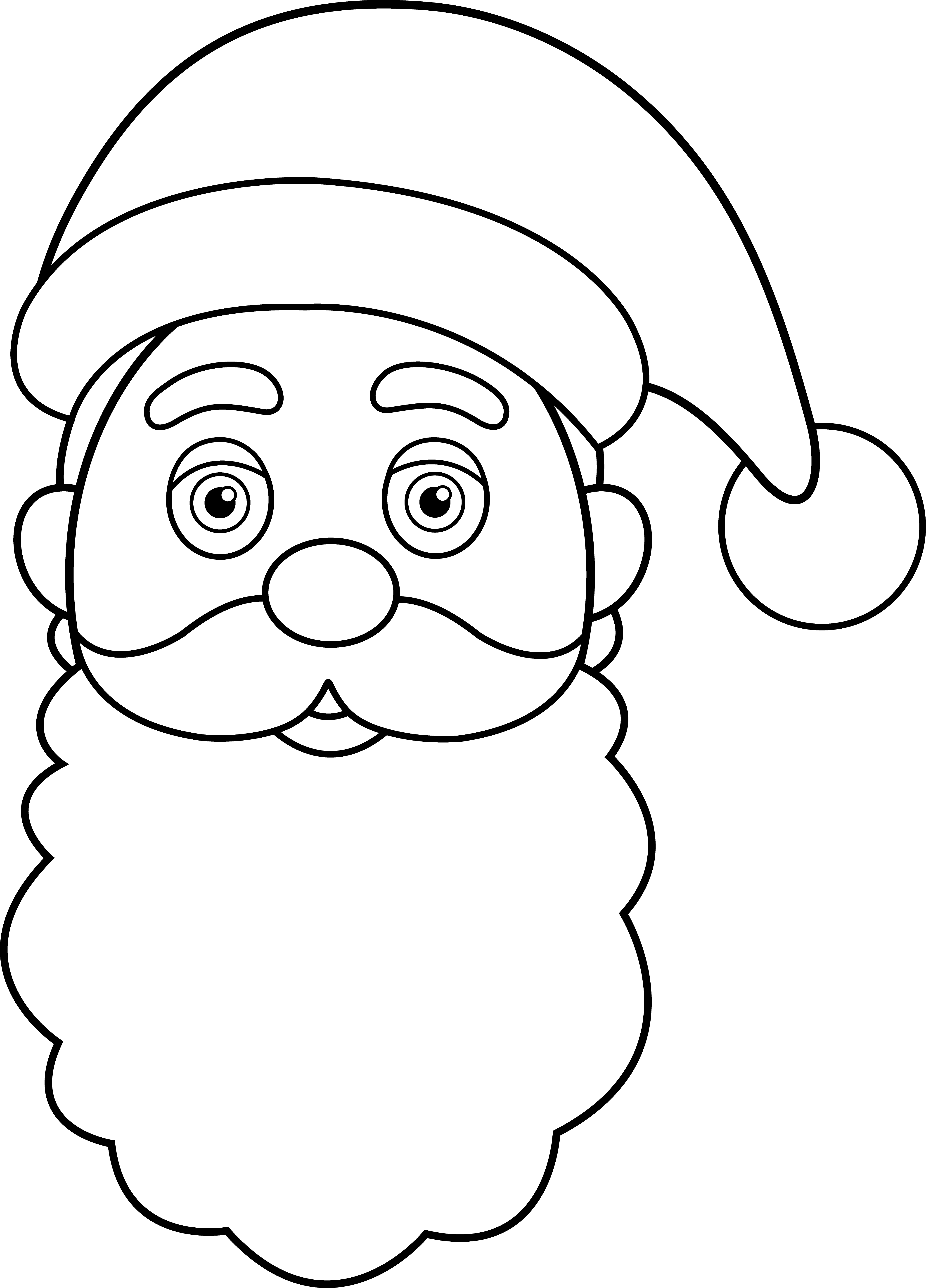 Line Drawing Cartoon Face : Santa claus face pictures cliparts