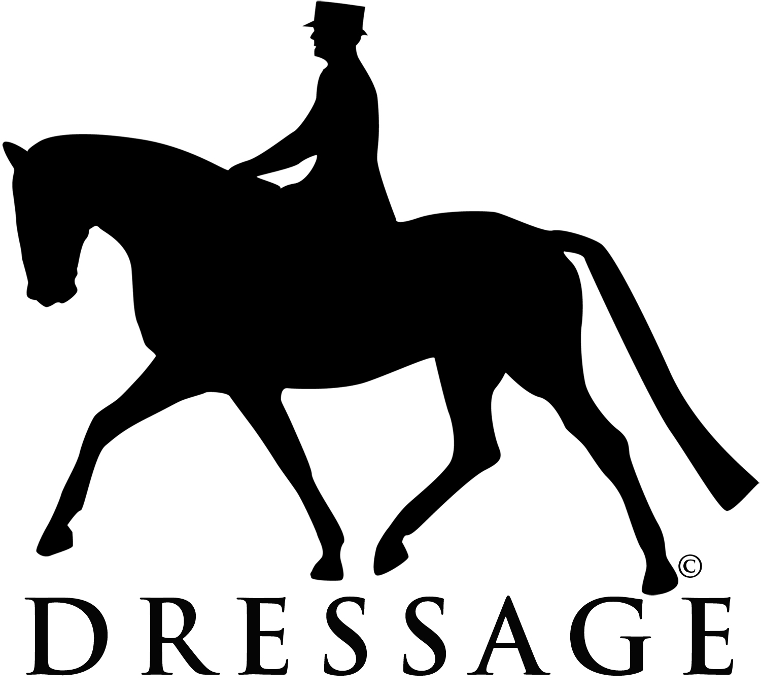 clip art dressage horse - photo #2