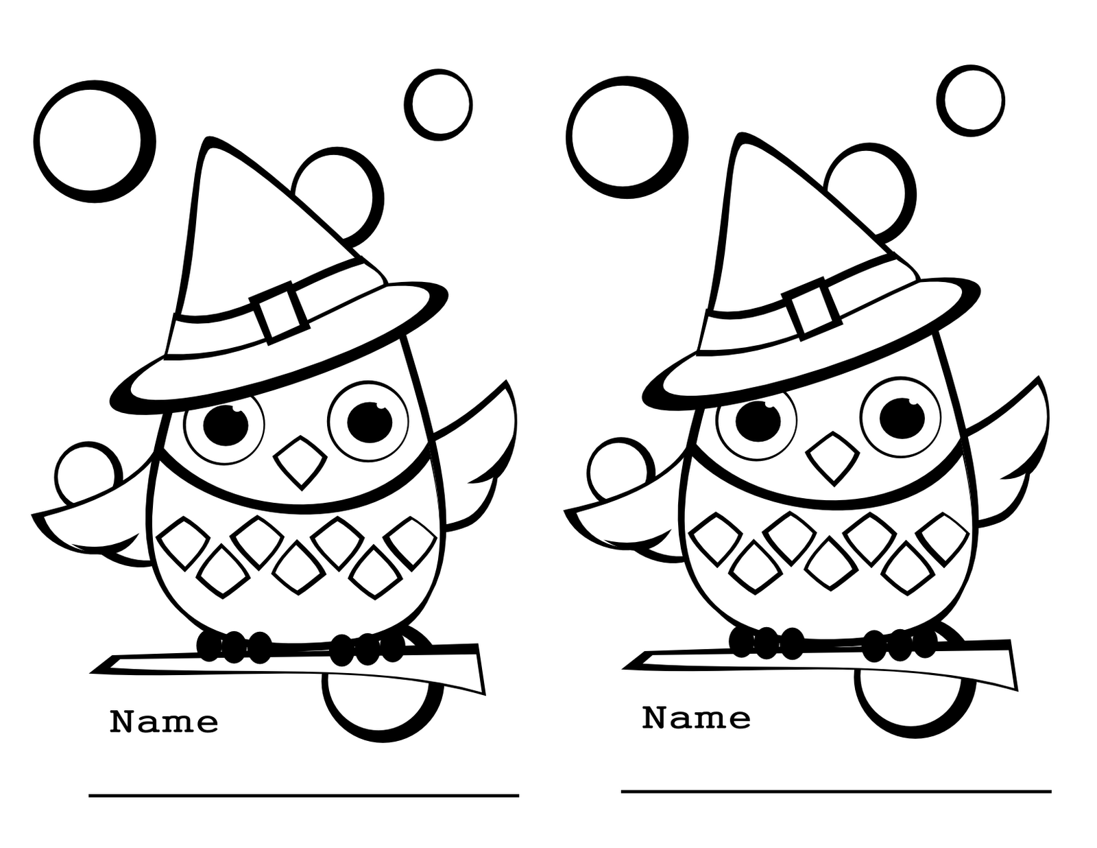Cartoon Owl Coloring Pages Clipartsco
