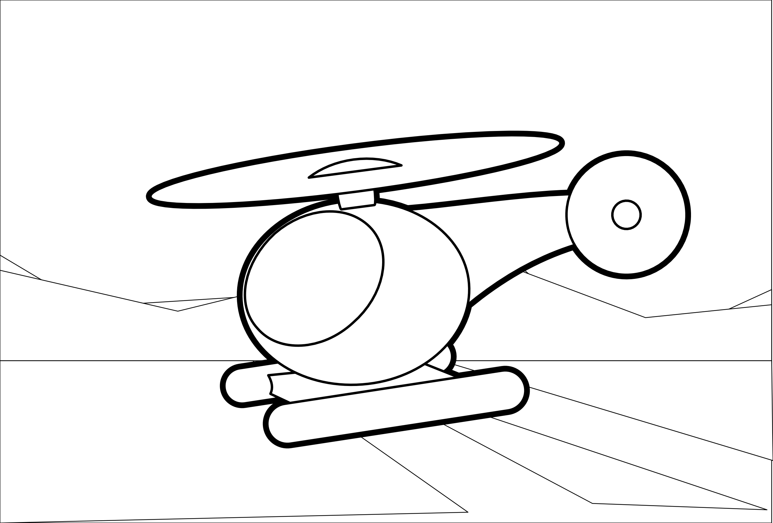 Helicopter 2 Black White Line Art Scalable Vector Graphics SVG ...