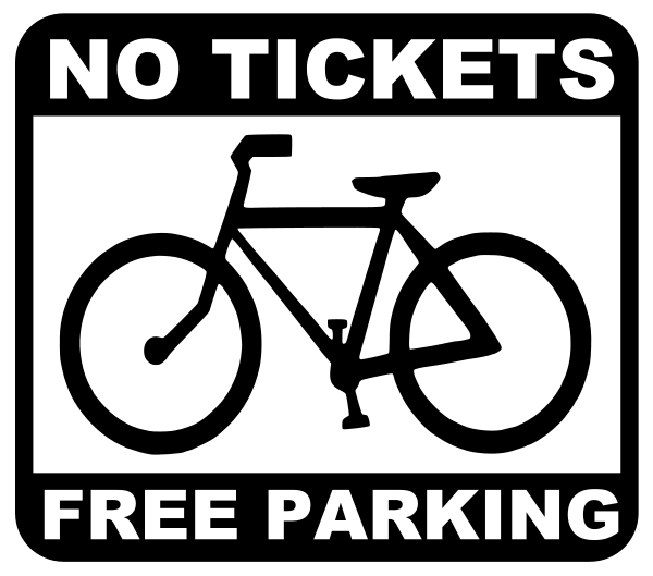 bike - no tickets, free parking Clipart, vector clip art online ...