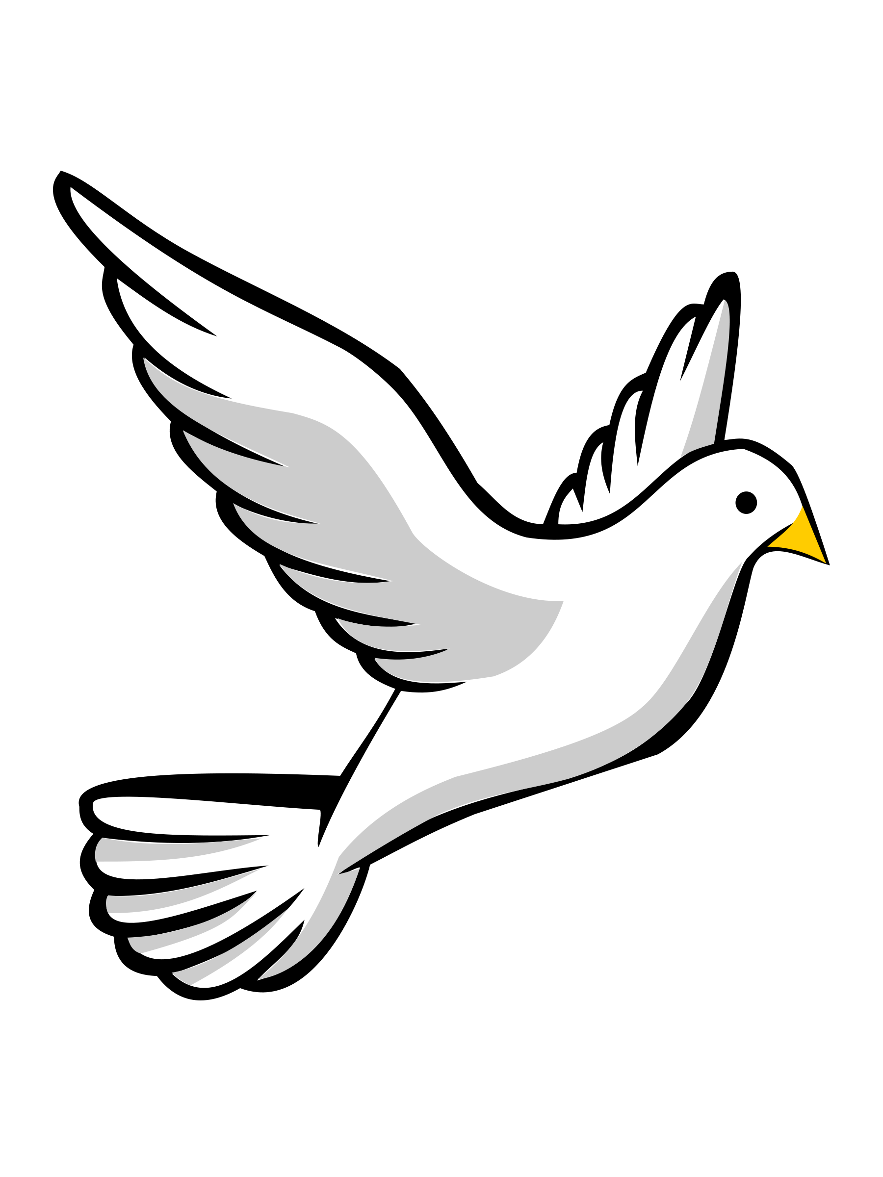 White Dove Clipart | Clipart Panda - Free Clipart Images