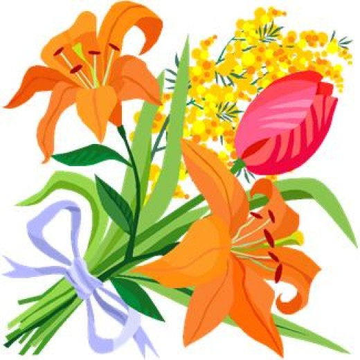FLOWER CLIP ART: Collection of 150