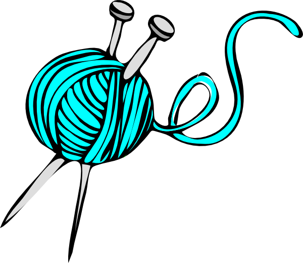 Turquoise Yarn clip art - vector clip art online, royalty free ...