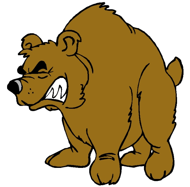 Growling bear cartoon
