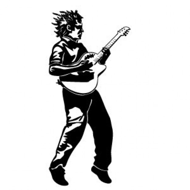 Cartoon Guitar Player - Cliparts.co