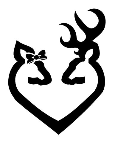Pin Browning Deer Head Heart Sticker Download To Phone ...