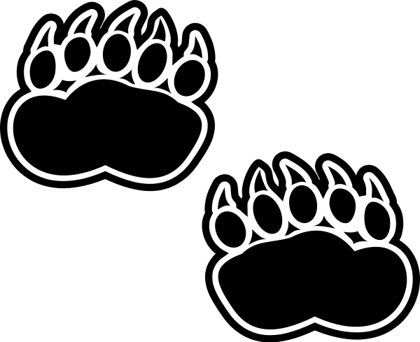 Polar Bear Paw Print Clip Art - Cliparts.co