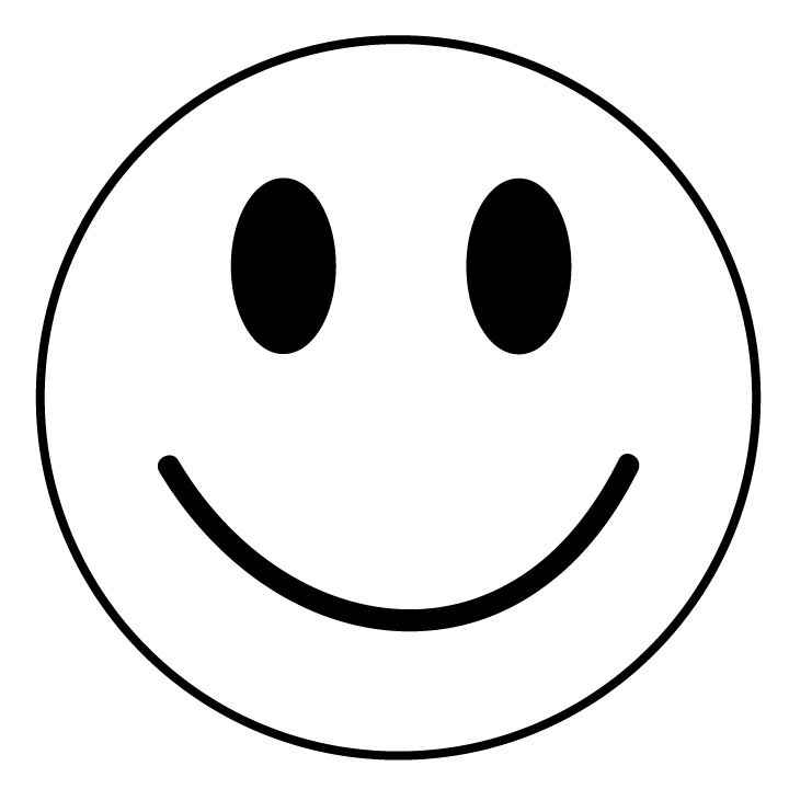 Line Drawing Of Happy Face : Black and white smiley face cliparts