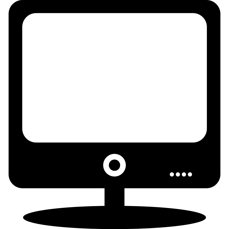 Clipart - Computer monitor