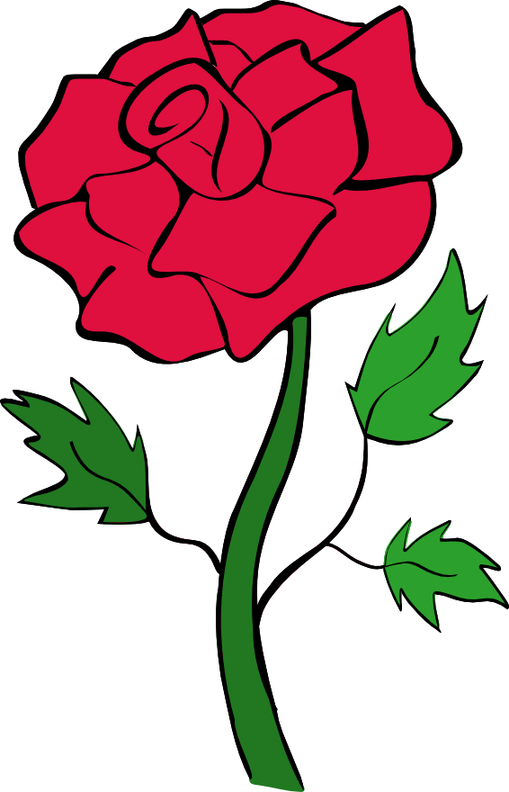 Red Rose Outline Clipart | Clipart Panda - Free Clipart Images