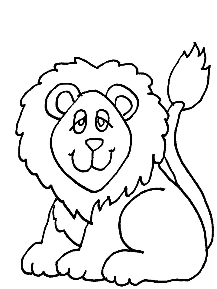 lion cartoon Colouring Pages