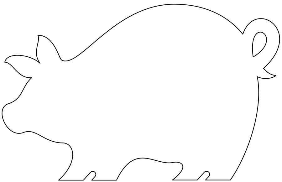 Pig Stencil Images & Pictures