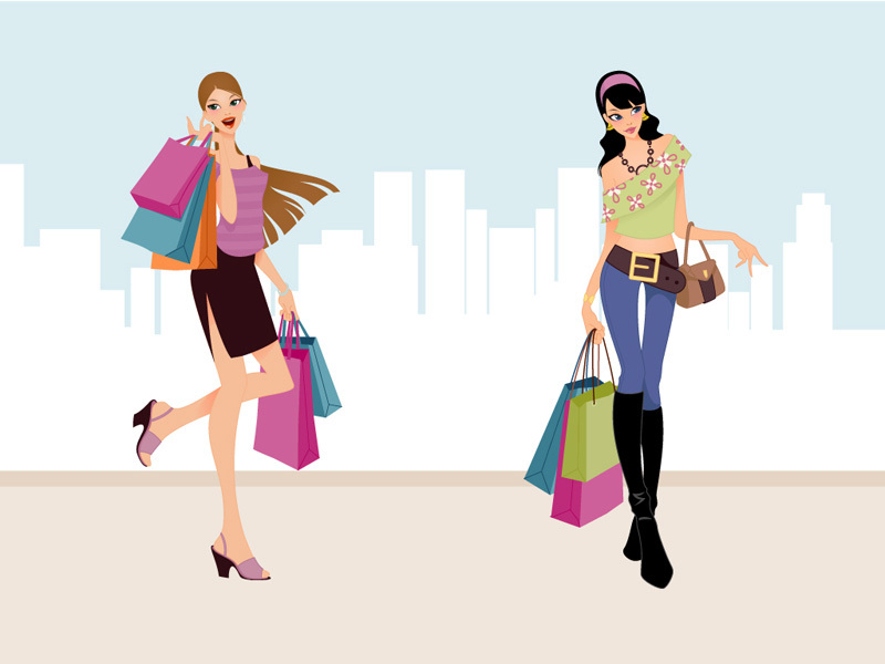 Woman Shopping Clipart Jack Of Clubs clip art Free