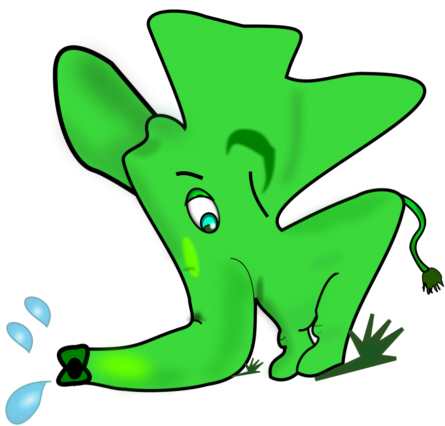 Colored Elephant Clipart, vector clip art online, royalty free ...