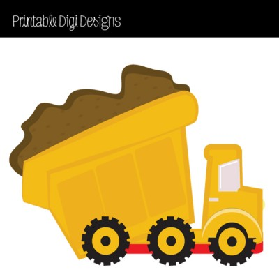 Yellow Dump Truck | Printable Digi Designs
