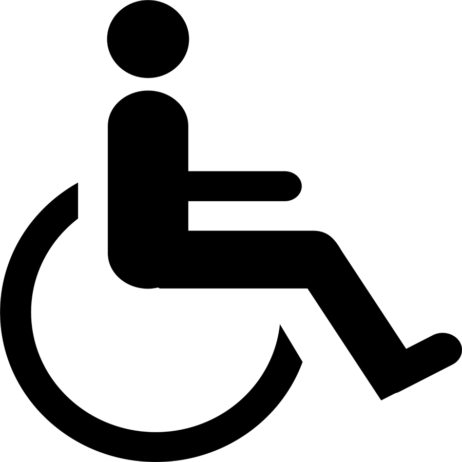 Adaptable image in printable handicap signs
