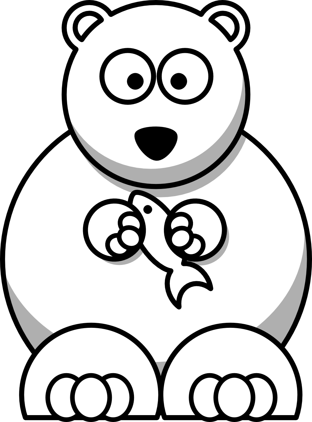 Clip Art Animals Black And White Clip Art Bear Black White