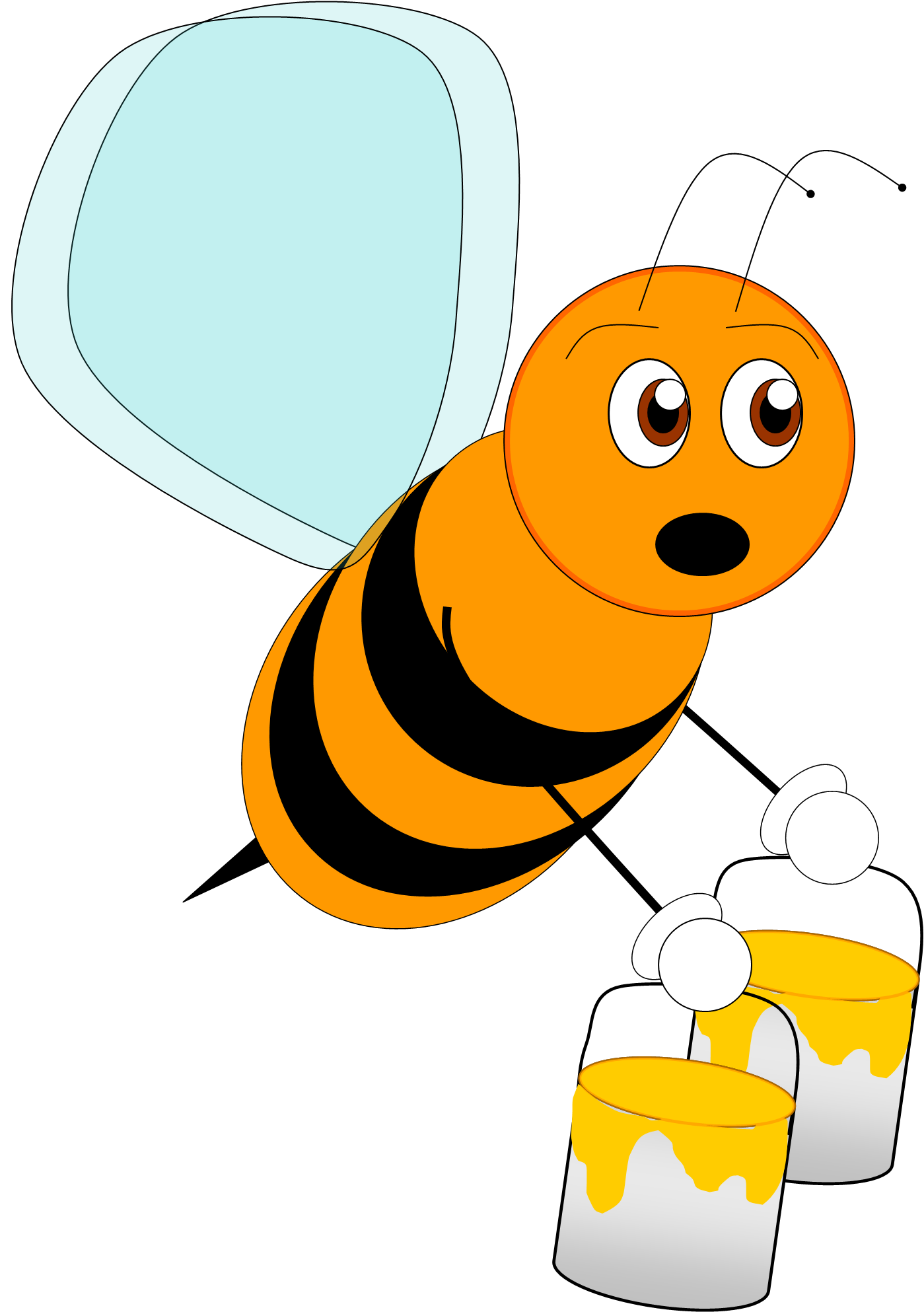 Images For > Bees Clipart