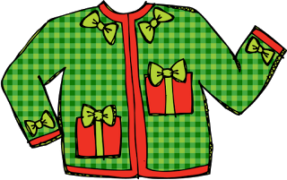 free ugly christmas sweater clipart